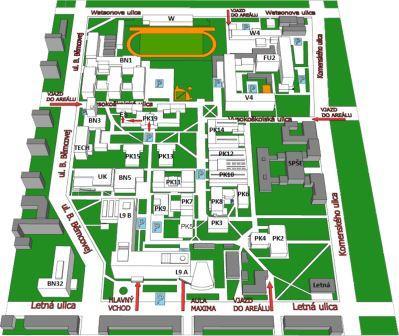 mapa TU s vyznačeným Edičným strediskom